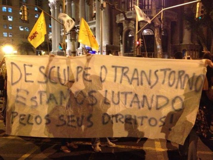 PROTESTOS DE MANIFESTANTES