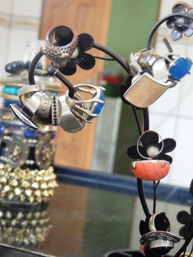 Como organizar os seus anéis